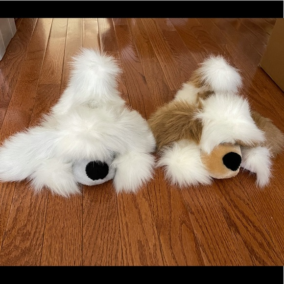 Pair of 1984 vintage fuzzy mop pups